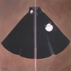 'Black Cloak and Scallop Shell' 90 x 90cm acrylic on canvas