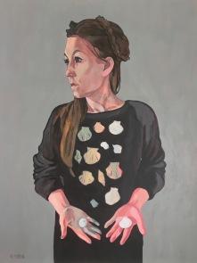 'Pilgrim and Shell Souvenirs' 60 x 80cm acrylic on canvas